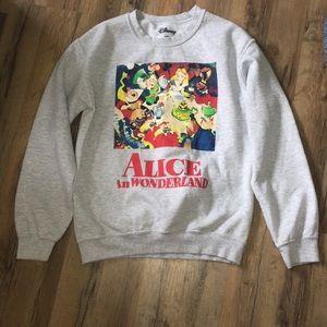 vintage alice in wonderland hoodie size s